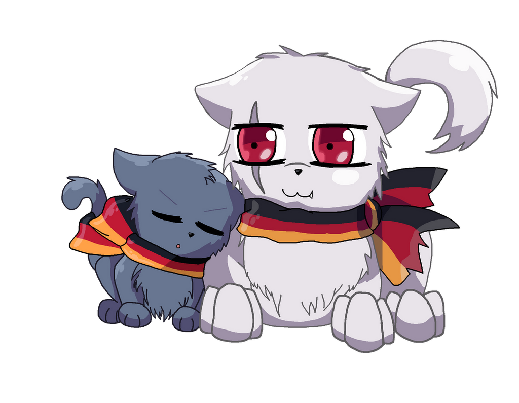 Big Brother Prussia Cat by MakePastaNot-War