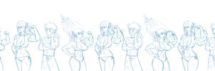 One Piece Shower Sequence by The-Muscle-Girl-Fan