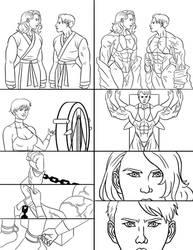 Margot vs Scarjo: Bicep Breaker - Page 1 by The-Muscle-Girl-Fan