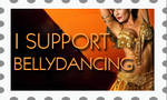 I Support Bellydance by Zellykats-Stuff