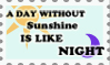 A day without sunshine- stamp by Zellykats-Stuff
