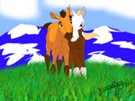 Spirit and Rain as Foals