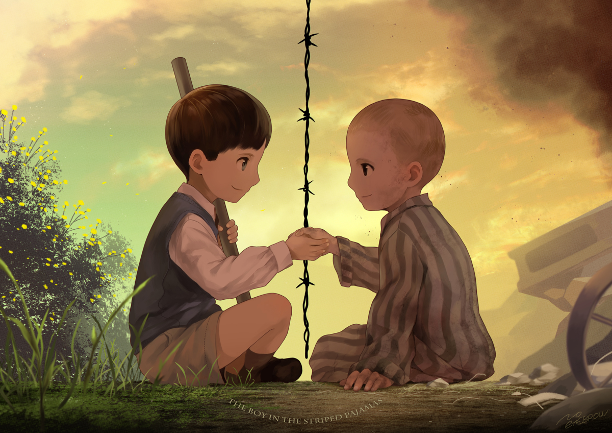 chapter 11 the boy in the striped pyjamas the boy in the striped pyjamas john boyne 2006----- bruno: this boy is the son of a nazi who becomes the director of auschwitz.