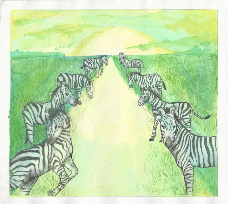 Zebras (1 of 4) by ErinDromeda