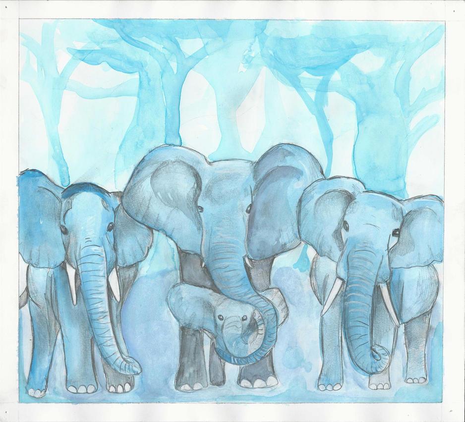 Elephants (2 of 4) by ErinDromeda