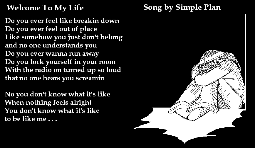 Simple Plan Lyrics Welcome To My Life