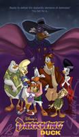 Film Poster for Darkwing Duck by SplatterPhoenix