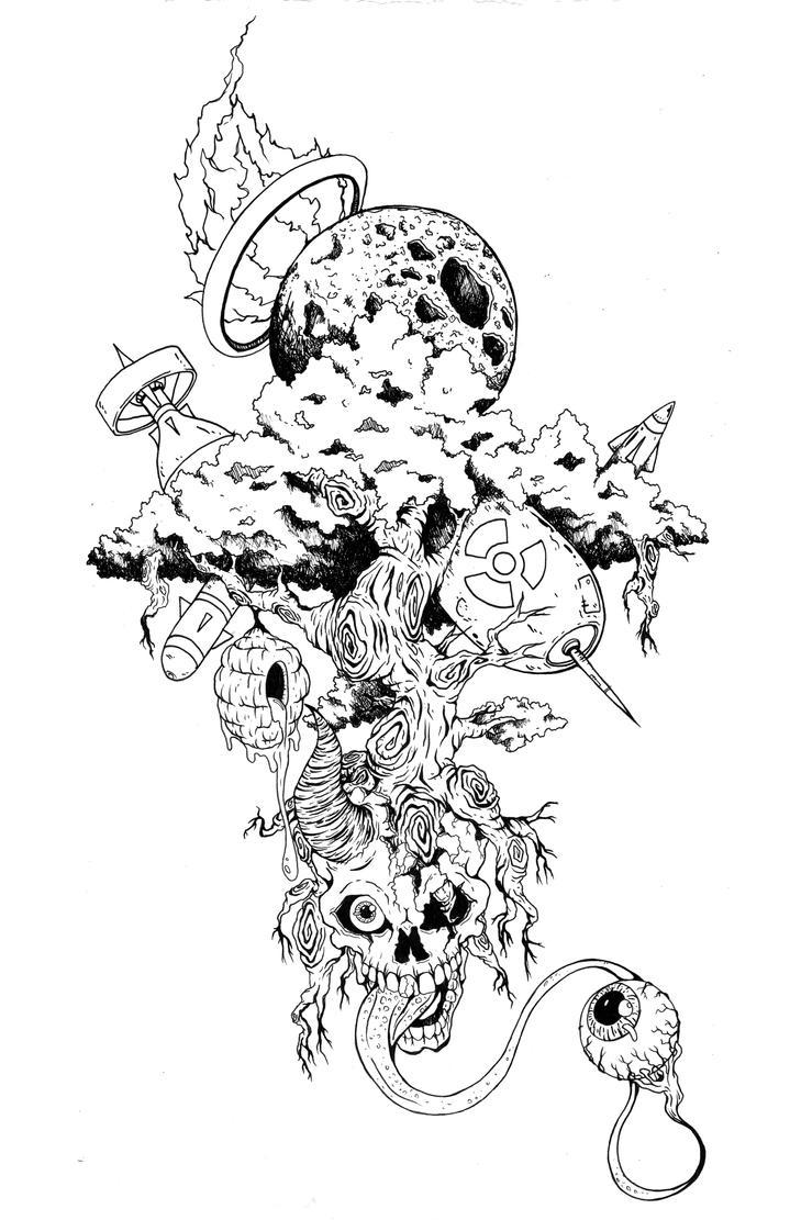 Skull Tree by DominicanArtist