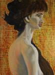 Acrylic Figure Painting by SettomBOCKsARTs