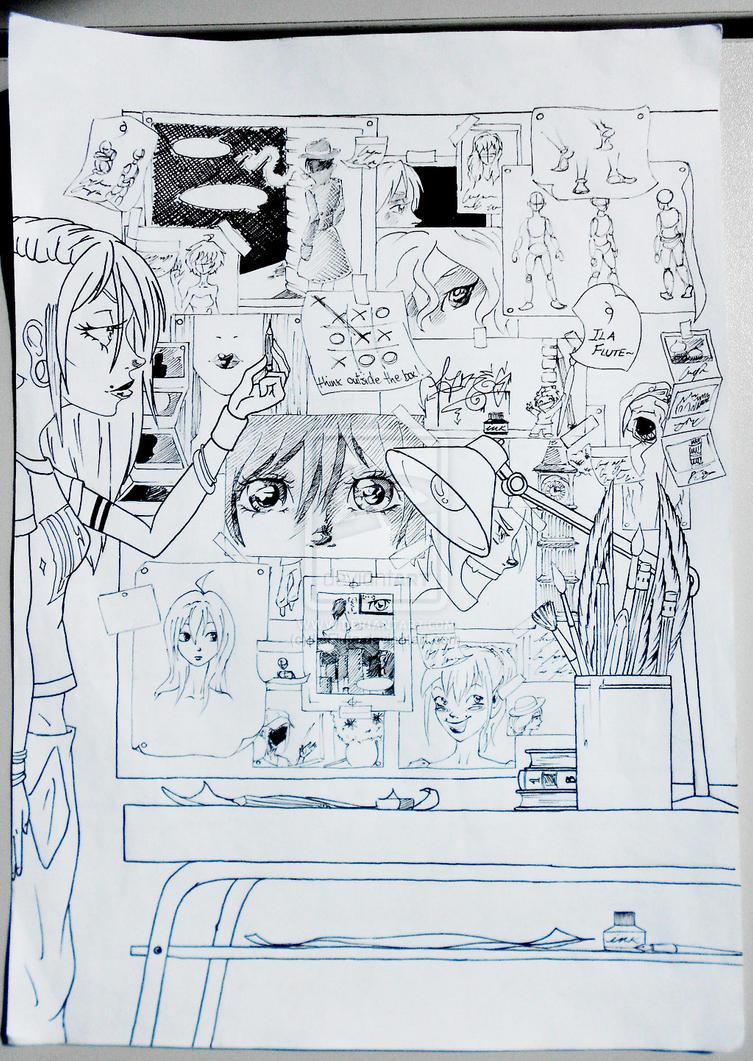 Line Work Art : Pencil line work by ilaflute on deviantart