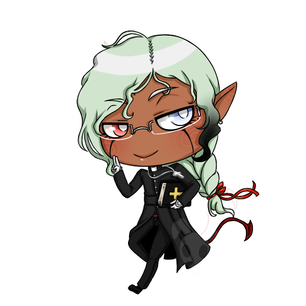 Halloween Chibis: Dark Priest by Poison-Peach