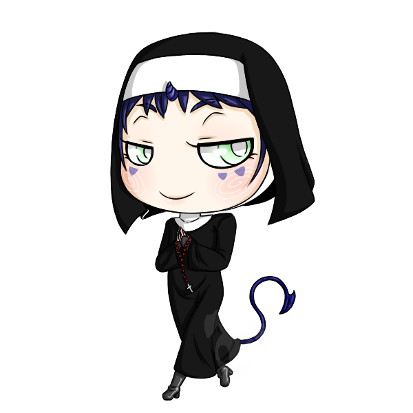 Halloween Chibis: Dark Nun by Poison-Peach