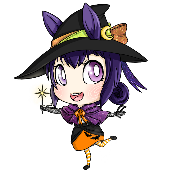 Halloween Chibis: Cutie Witch by Poison-Peach