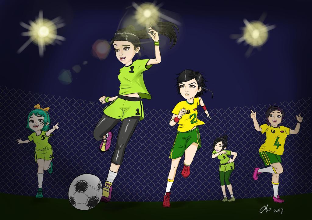 Puteri Limau Fanart_FOOTBALL by RainingMuse