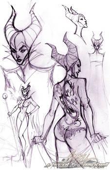 Maleficent sketches