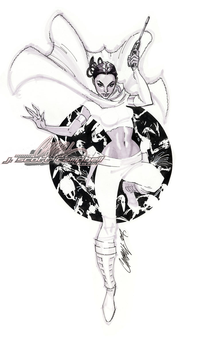 'Padme' STAR WARS commission by J-Scott-Campbell