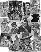 Indiana Jones Sketch Cards by J-Scott-Campbell