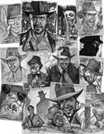Indiana Jones Sketch Cards