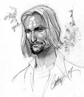 Sawyer LOST sketch by J-Scott-Campbell