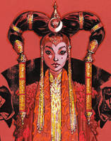 Queen Amidala Close Up by J-Scott-Campbell