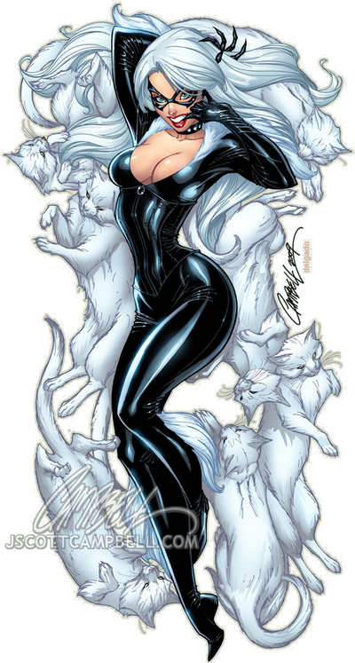 The BLACK CAT lep by J-Scott-Campbell on DeviantArt