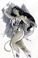 Wonder Woman 'Gray' by J-Scott-Campbell
