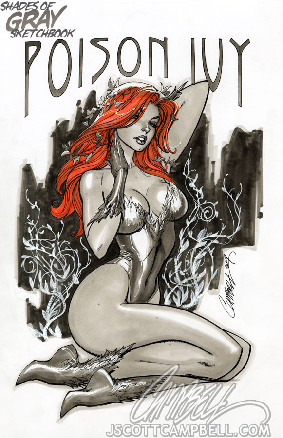 "Poison Ivy ""Gray"" by J-Scott-Campbell"