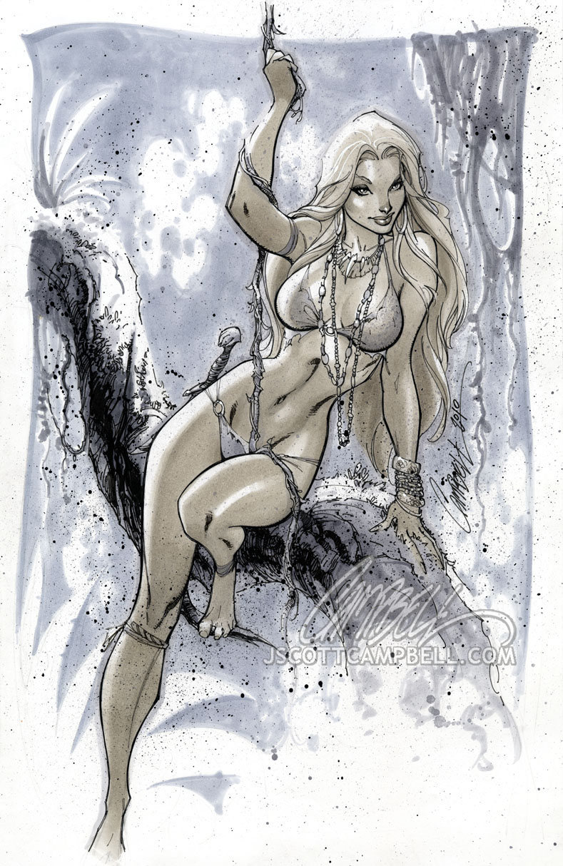 Jungle Girl 'Gray' by J-Scott-Campbell