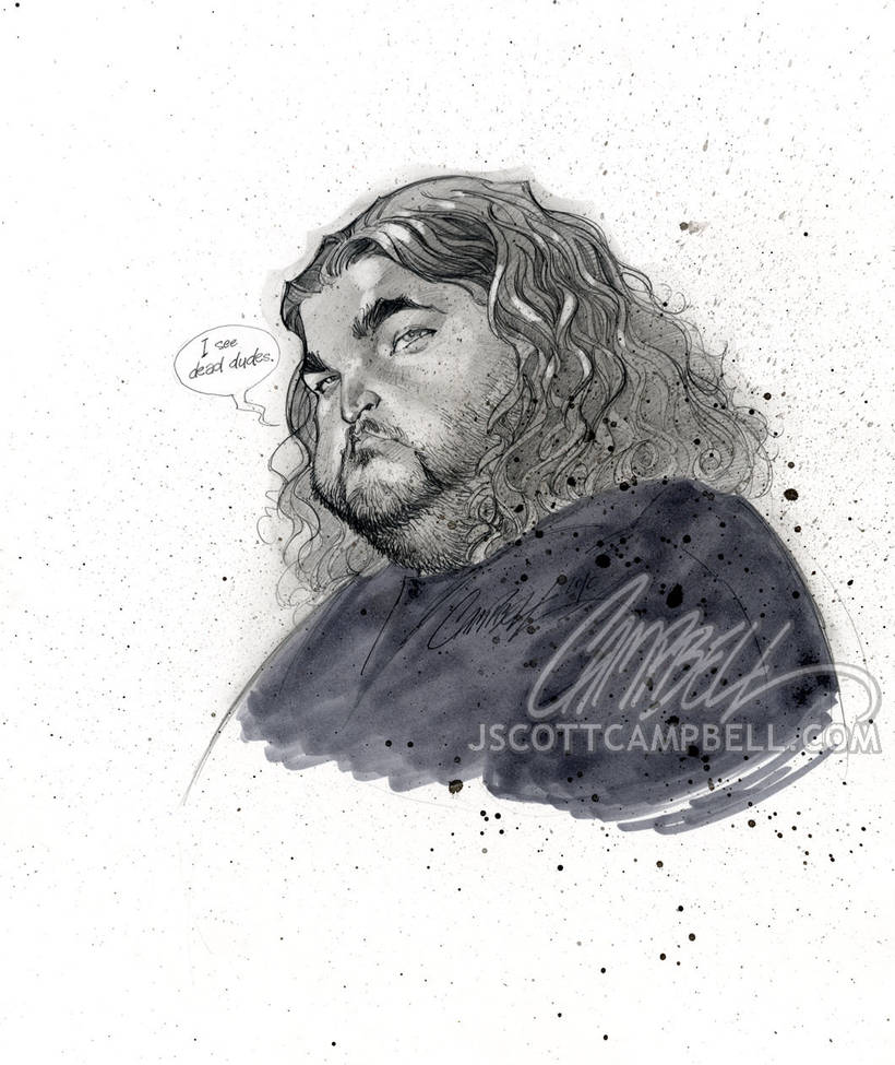 LOST sketch 'Hurley' by J-Scott-Campbell