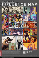JSC's Influence Map by J-Scott-Campbell