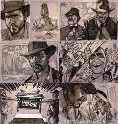 INDIANA JONES Sketch Cards 1 by J-Scott-Campbell