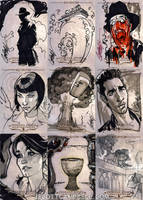 INDIANA JONES Sketch Cards 6 by J-Scott-Campbell