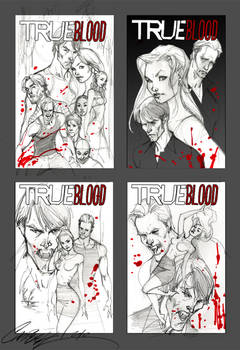 True Blood cover sketches 1