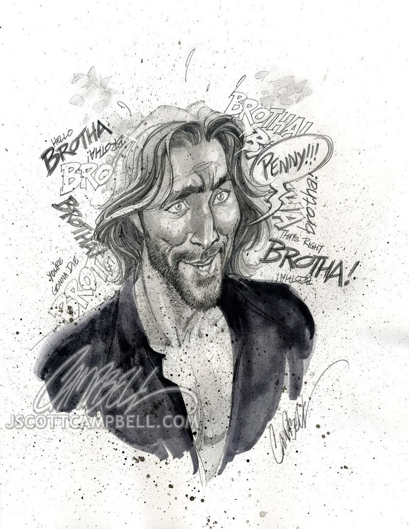 LOST sketches 'Desmond' by J-Scott-Campbell on DeviantArt