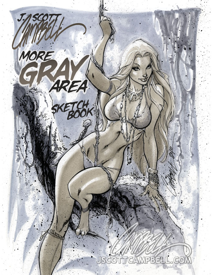 More GRAY Area sketchbook cvr by J-Scott-Campbell