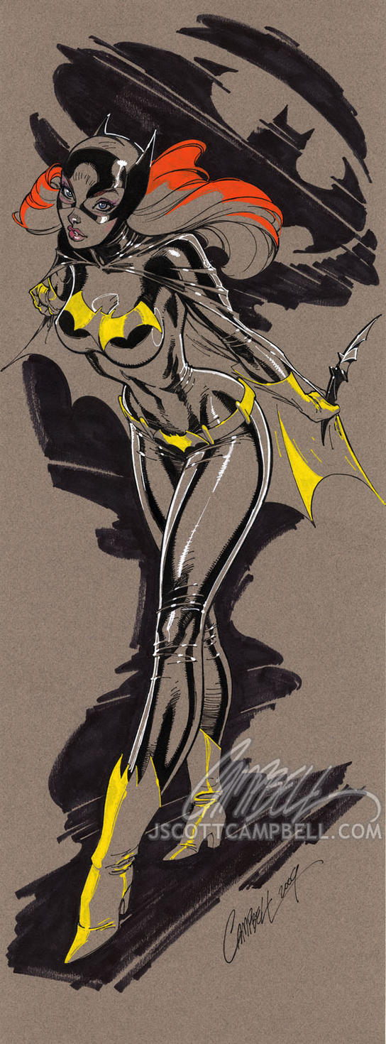 Batgirl TALL by J-Scott-Campbell