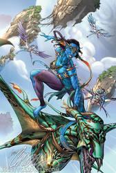 AVATAR comic book art by J-Scott-Campbell