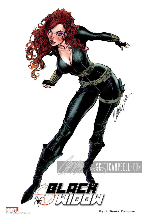 Black Widow print by J-Scott-Campbell