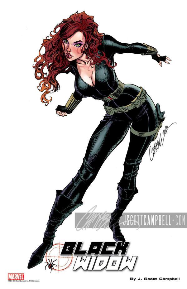 Black Widow print by J-Scott-Campbell