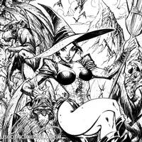 Wicked Witch INKS detail