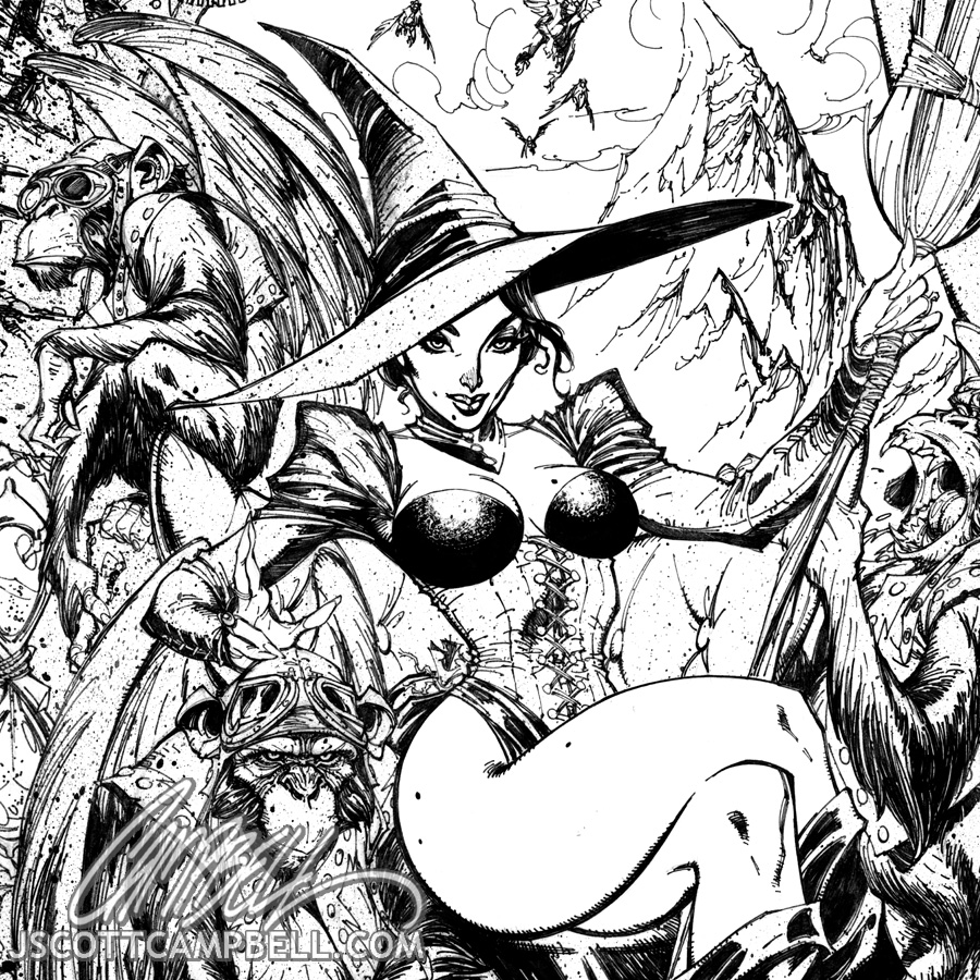 Wicked Witch Drawings Wicked Witch Inks Detail