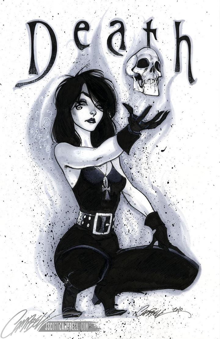 Neil Gaiman's DEATH by J-Scott-Campbell