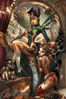 The STEAMPUNK print by J-Scott-Campbell