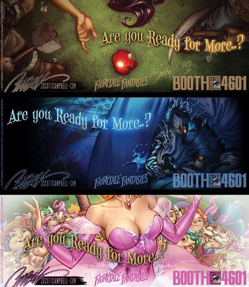 FairyTale Fantasies 2014 Teaser Set 1 by J-Scott-Campbell