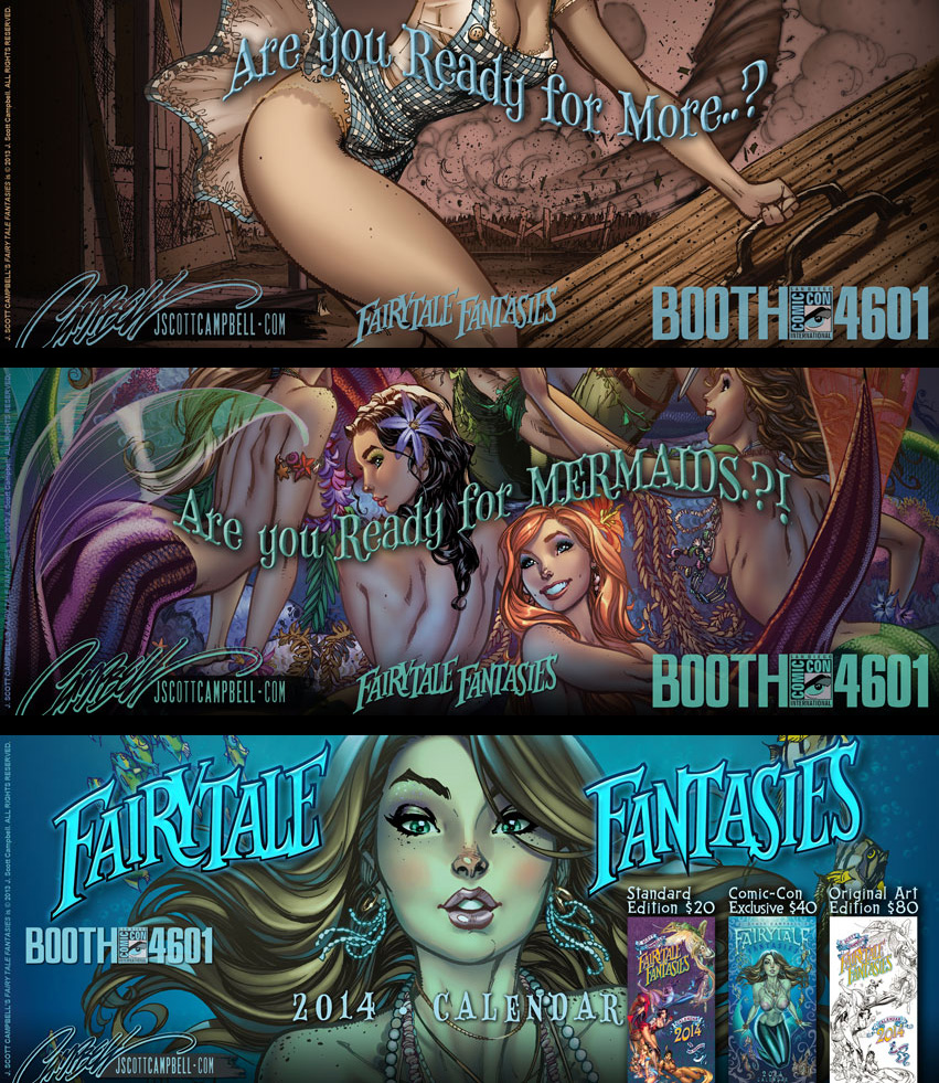 FairyTale Fantasies 2014 Teaser Set 2 by J-Scott-Campbell