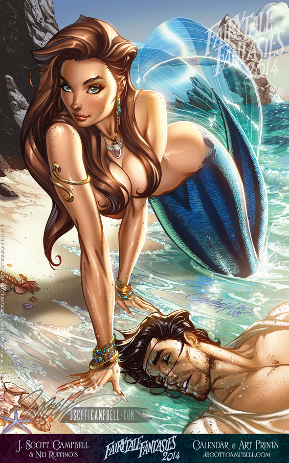 FTF The Little Mermaid 2014 by J-Scott-Campbell