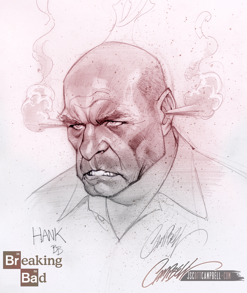 Breaking Bad's Hank angry! by J-Scott-Campbell