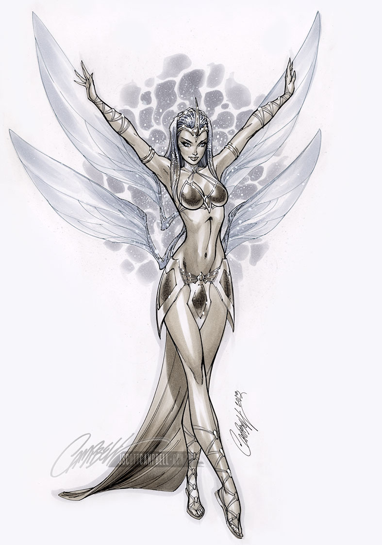 Soulfire #2 JSC Sketch Cover by J-Scott-Campbell
