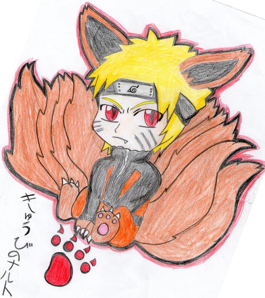 Chibi Nine Tailed Naruto by Spirit-Okami
