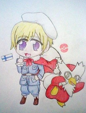 Finland and Delibird by Spirit-Okami